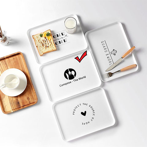 Nordic Style Simple Plastic Tray