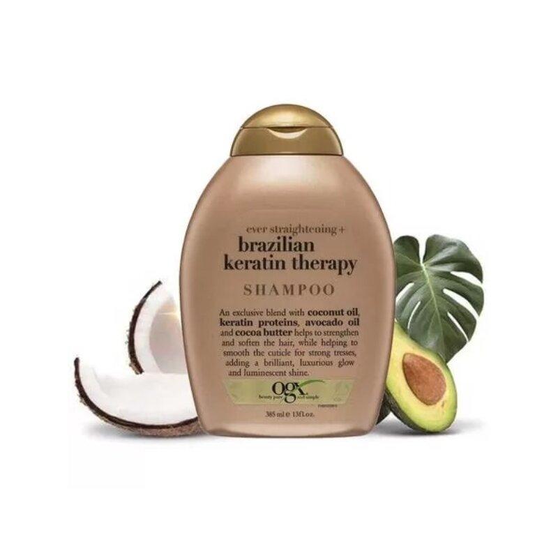 OGX Ever Straightening + Brazilian Keratin Smooth Shampoo 385ml