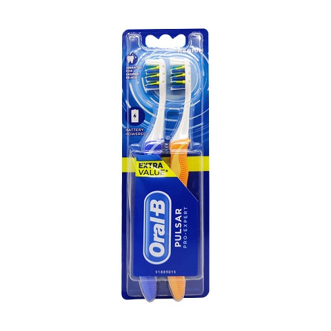 Oral-B Pro Expert Pulsar Medium Toothbrush 2pc - Blue & Orange