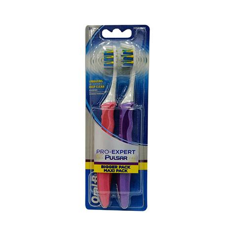Oral-B Pro Expert Pulsar Medium Toothbrush 2pc - Orange & Purple