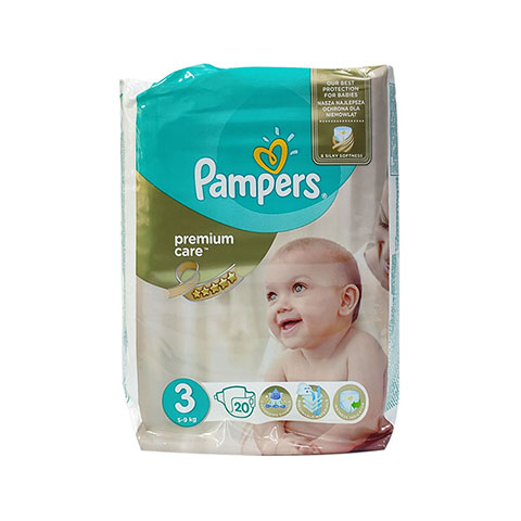 Pampers Premium Care 3 (5-9 kg) 20 Nappies