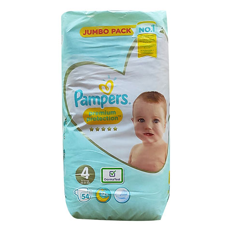 Pampers Premium Protection 12h Nappy Size 4 ( 9-14 kg) - 54 Nappies