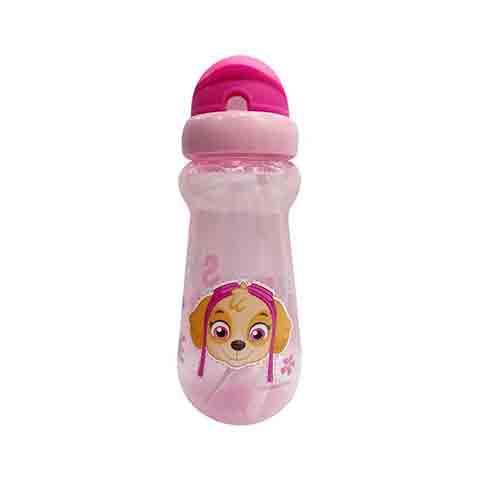 Paw Patrol Straw Sipper Drinks Bottle 400ml - Pink