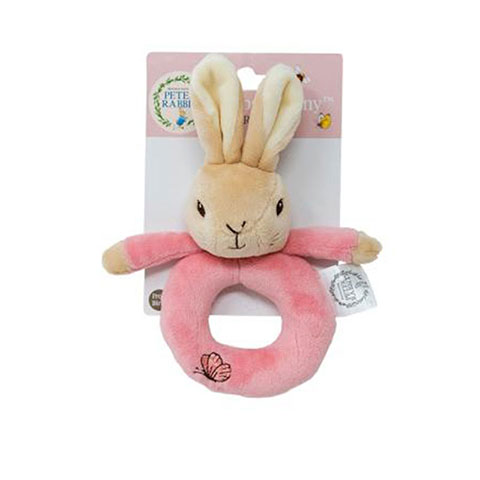 Peter Rabbit Plush Ring Rattle - Pink