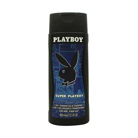 Playboy Super Playboy 2 In 1 Shower Gel & Shampoo for Him 400ml