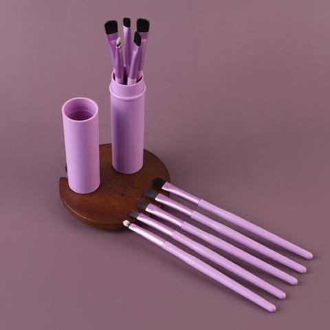 Pony Hair 5pcs Makeup Brushes Set - Pink (20111)