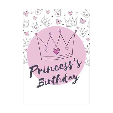 Princess's Birthday Gift Card - VL025
