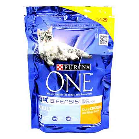 Purina ONE Cat Adult Chicken Whole Grains Dry 200g