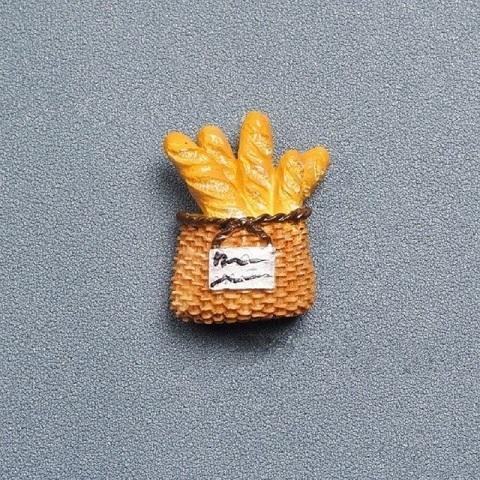 Refrigerator Magnet Resin Decorative 3D Stickers - Bread Basket
