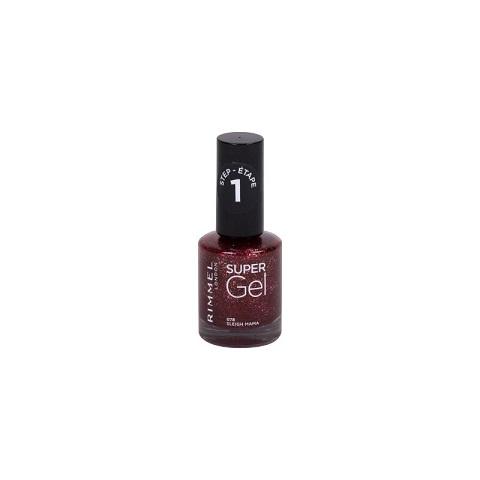 Rimmel London Super Gel Nail Polish 12ml - 078 Sleigh Mama