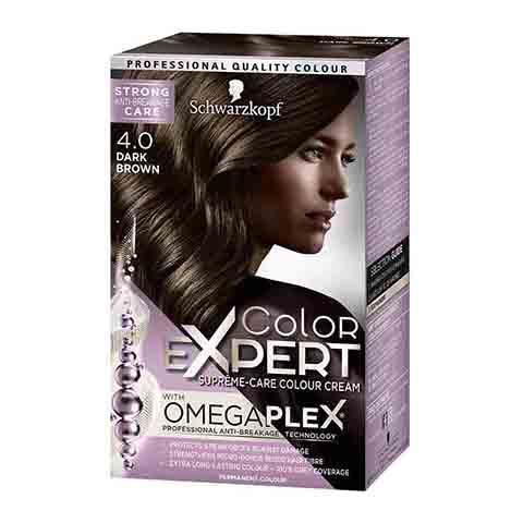 Schwarzkopf Color Expert Omegaplex Permanent Hair Colour - 4.0 Dark Brown