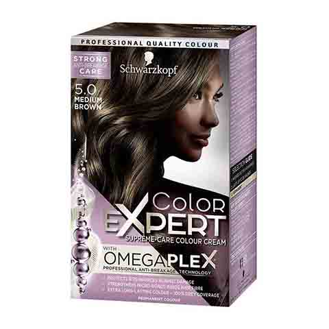 Schwarzkopf Color Expert Omegaplex Permanent Hair Colour - 5.0 Medium Brown