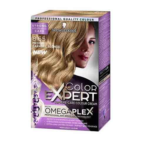Schwarzkopf Color Expert Omegaplex Permanent Hair Colour - 8.65 Medium Caramel Blonde