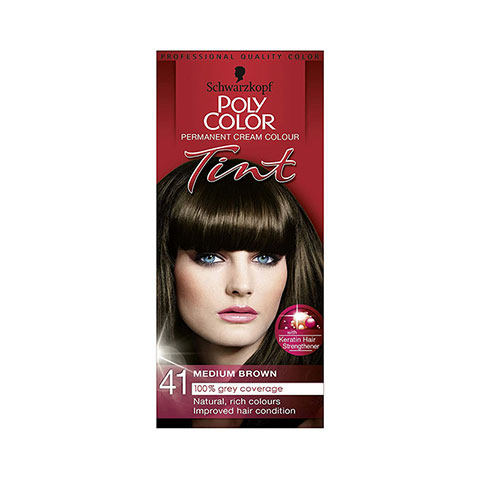 Schwarzkopf Poly Color Permanent Cream Colour Tint - 41 Medium Brown