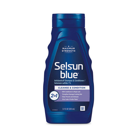 Selsun Blue 2-in-1 Cleans and Conditions Maximum StrengthDandruff Shampoo 325ml