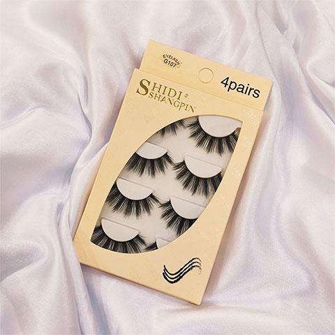 Shidi Shangpin 3D Mink False Eyelashes 4 Pairs Set - G107