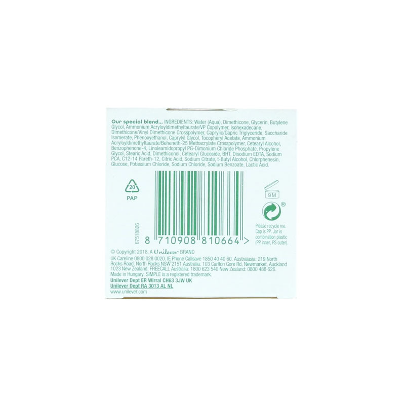 Simple Water Boost Skin Quench Sleeping Cream 50ml
