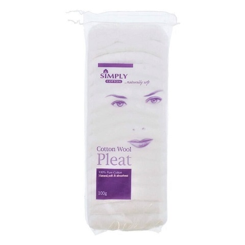 Simply Cotton Naturally Soft Cotton Wool Pleat 100g