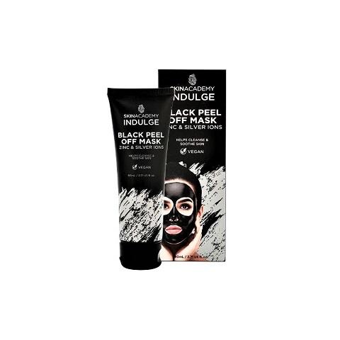 Skin Academy Indulge Zinc & Silver Ions Black Peel Off Mask 80ml