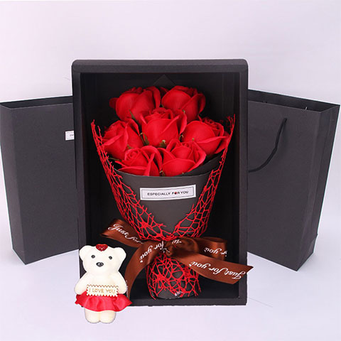 Soap Flower Gift Box - Red Rose