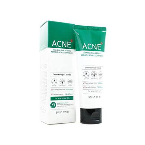 SOME BY MI AHA BHA PHA 30 Days Miracle Acne Clear Foam 100ml