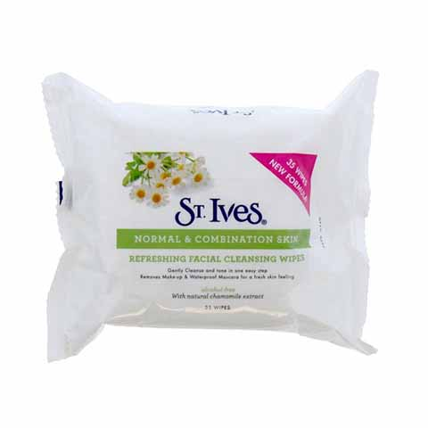 St. Ives Normal & Combination Skin Refreshing Facial Cleansing Wipes - 35 Wipes