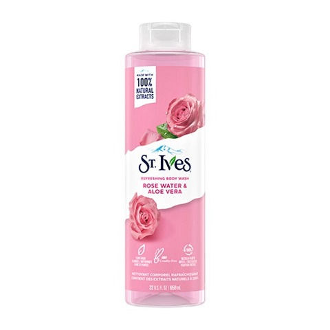 St. Ives Rose Water & Aloe Vera Refreshing Body Wash 650ml