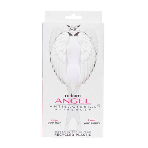 Tangle Angel Reborn Angel Antibacterial Hair Brush - White / Fucshia