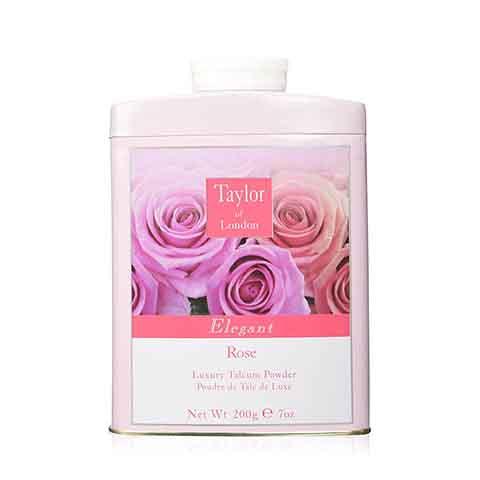 Taylor of London Luxury Talcum Powder 200g - Elegant Rose