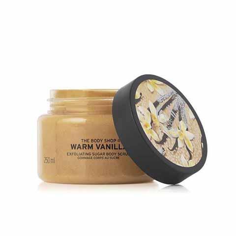 The Body Shop Warm Vanilla Exfoliating Sugar Body Scrub 250ml