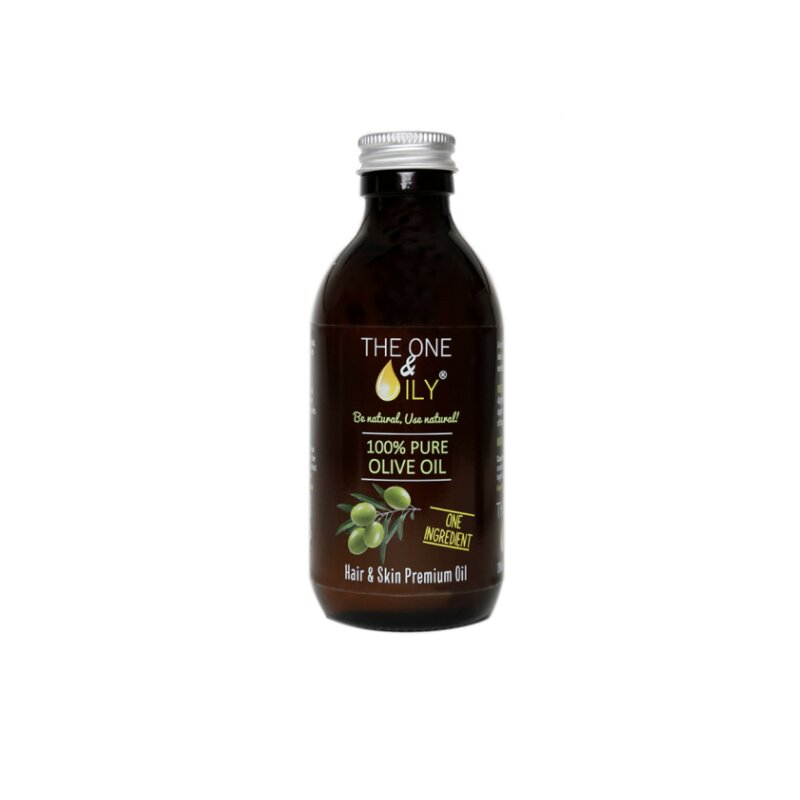 The One & Oily 100% Pure Olive Oil For Hair & Skin  200ml