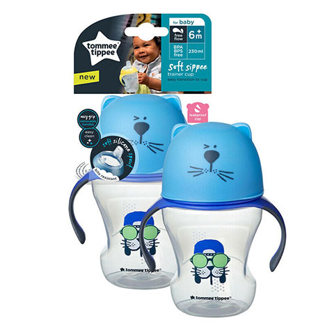 Tommee Tippee Soft Sippee Trainer Cup 6m+ 230ml - Blue