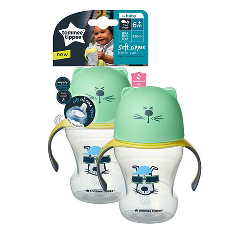 Tommee Tippee Soft Sippee Trainer Cup 6m+ 230ml - Green