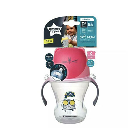 Tommee Tippee Soft Sippee Trainer Cup 6m+ 230ml - Pink