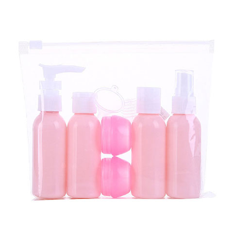 Travel Size Cosmetic Bottle Set - Pink