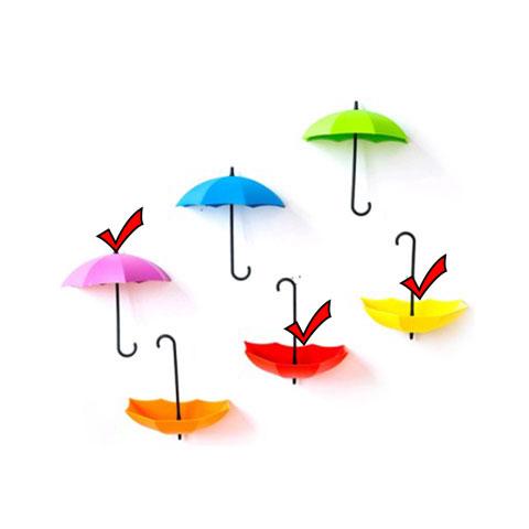 Umbrella Shape Wall Viscose Nail-Free Hook - 2