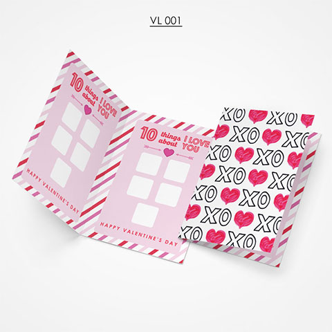 Valentine Gift Card - VL001