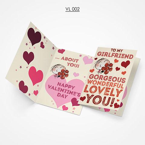 Valentine Gift Card - VL002