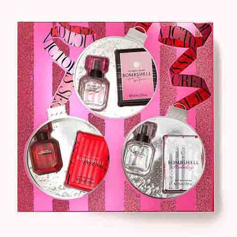 Victoria's Secret Bombshell Trio Luxury Fragrance Collection Gift Set (7546)