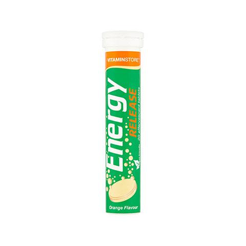Vitaminstore Energy Release Effervescent Tablets Orange Flavour - 20 Tablets