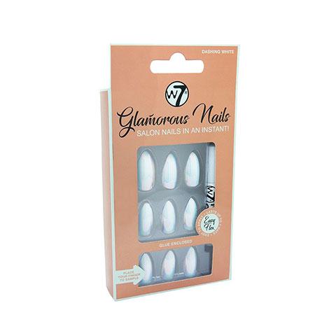 W7 Glamorous Artificial Nails - Dashing White