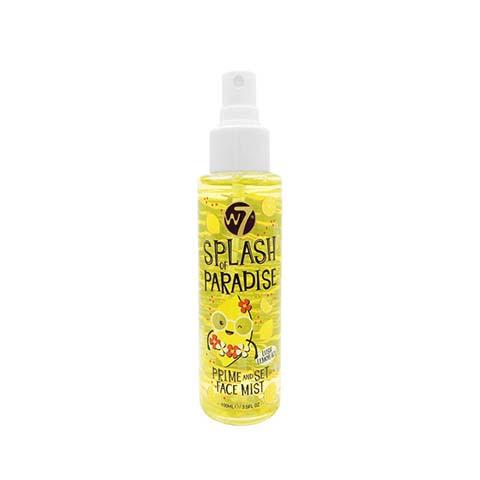 W7 Splash Of Paradise Prime And Set Face Mist - Lush Lemon Ice