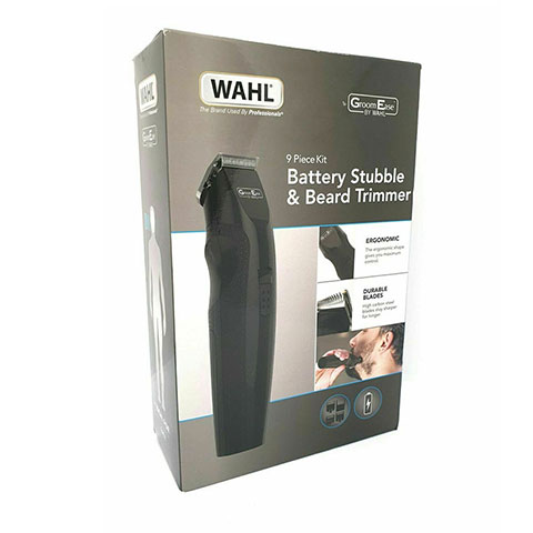 Wahl Groom Ease Battery Stubble & Beard Trimmer 9 Piece Kit