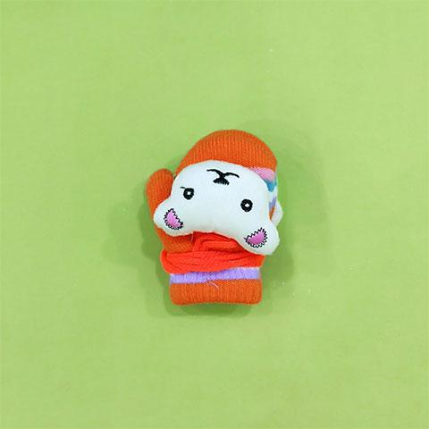 Warm Woolen Baby Gloves - Orange