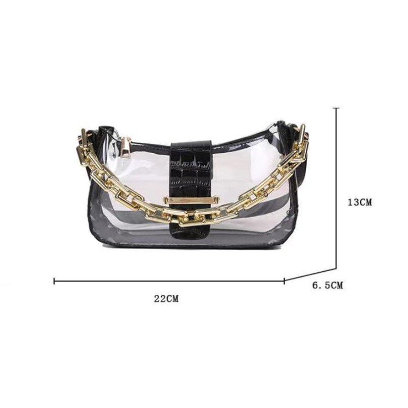 Women's New Trendy Korean Style Transparent Small Bag (1001015)