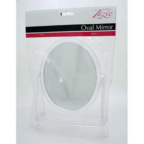 Zazie Oval On Clear Mirror Stand