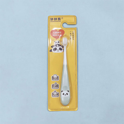 Zhuan Zhuan Xiong Children's Bear Cartoon Toothbrush - Blue