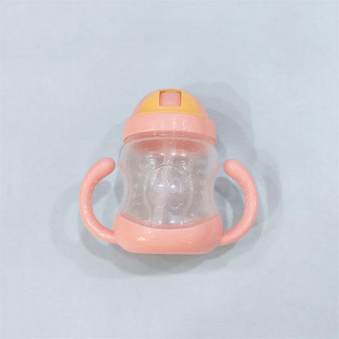 Zhuan Zhuan Xiong Double Handle Baby Straw Cup 280ml - Pink